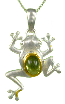 CLIMBING FROG PENDANT by Michou
