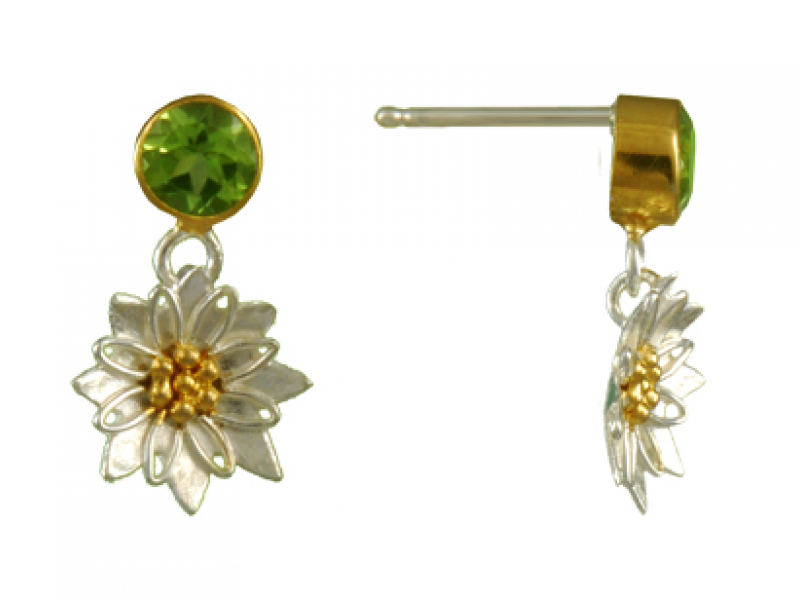 genuine sterling silver peridot products earrings designer